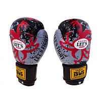 Перчатки боксерские тренировочные BWS LET'S FIGHT  (8 унций)
