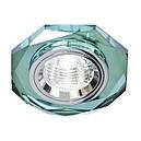 Встраиваемый  светильник Feron 8020 MR16 ( цвет корпуса зеленый-серебро), фото 2
