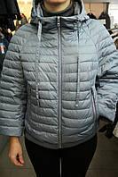 Куртка жен.деми.CLASNA CW17CO79L\серо-голубая