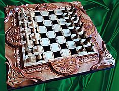 Шахматы-нарды  ** Волк ** + шкатулка для фигур