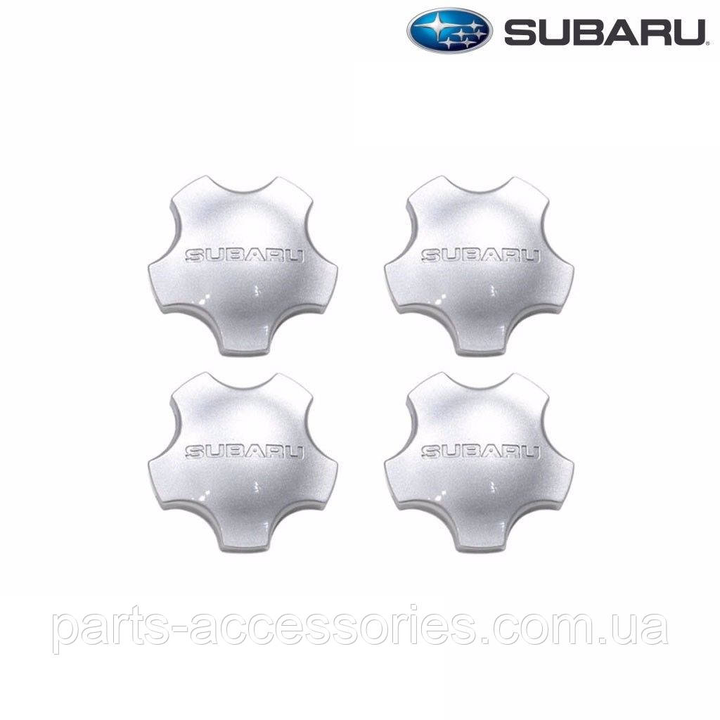 Subaru Forester 2001-06 серые колпачки в диски Новые Оригинал