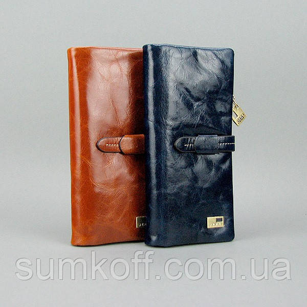 44289d055ce0 Кошелек JCCS женский кожаный черный/синий - Интернет магазин сумок SUMKOFF  - женские и мужские