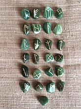 Руни з каменю, 25 символів. Авантюрин (XL)