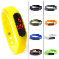 LED наручные спортивные часы, силиконовый ремешок, металлическая застёжка
