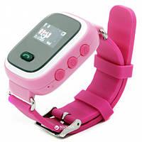Детские телефон-часы с GPS трекером WD-900 (Q60) Розовые