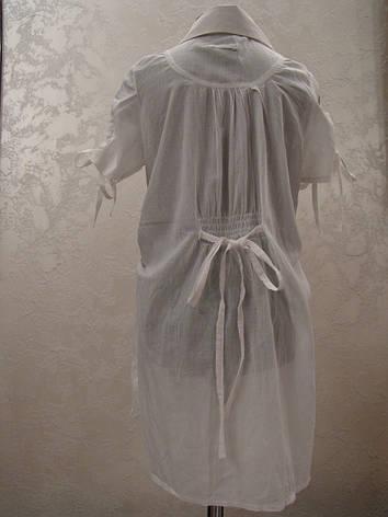 Туника белая для девочек Батист, фото 2