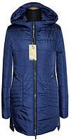 Женский демисезонный модный плащ цвет синий р-44-56