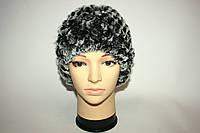 Женская вязаная меховая шапка (натуральный мех), фото 1