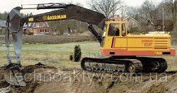 Запчасти к гусеничным экскаваторам Akerman H14B