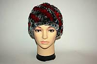 Женская вязаная меховая шапка (зима) , фото 1