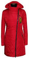 Женский весенний модный плащ цвет красный р-44-56