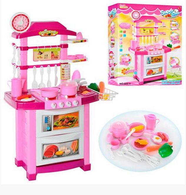 Набор Super Cook 889-4 игровая детская кухня со звуком и светом