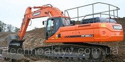 Запчасти к гусеничным экскаваторам Doosan DX380LC