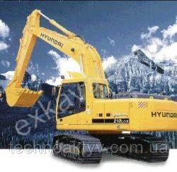 Запчасти к гусеничным экскаваторам Hyundai R 210LC-3
