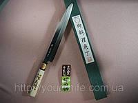 Купить Нож кухонный японский Sakai Yoshiharu Shirogami YANAGIBA Sashimi 240мм