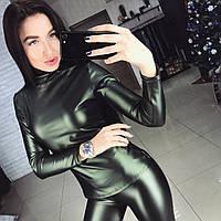 Женский модный кожаный гольф (2 цвета)