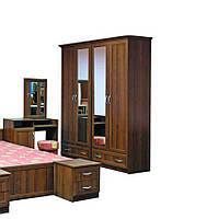 Шкаф в спальню 4Дв Соната 160х52х210 см. Ольха, Орех