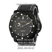 Удобные мужские наручные часы Panerai Luminor 1950 Submersible Quartz All Black-Yellow