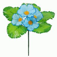 Букет искусственных цветов Лютик цветной бордюр , 19 см