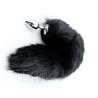 Анальная пробка с черным хвостиком