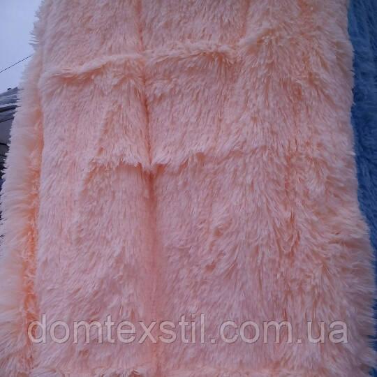 Плед травка,евро размер.яркий персик
