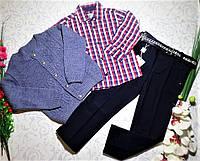 Нарядный костюм   для мальчика с рубашкой, брюками и кофтой  на 5 лет