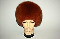 Женская песцовая шапка, цвет - коричневый, фото 1