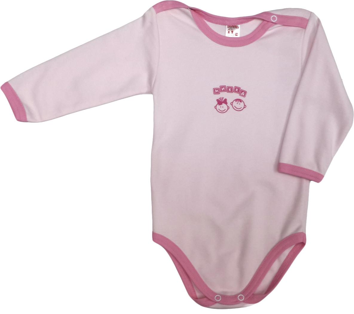 Боди хлопковый на девочку ТМ Татошка 146587 розовый размер 74