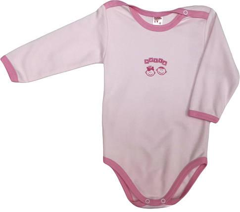 Боди хлопковый на девочку ТМ Татошка 146587 розовый размер 74, фото 2