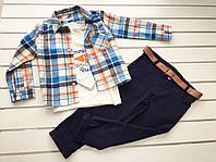 Детский костюм - кофта, рубашка, брюки - для мальчика на 4-6 лет