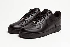 Кроссовки мужские Nike Air Force 1 Low черные топ реплика