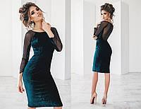 """Красивое женское платье с сеткой на спине """"Роузи"""""""
