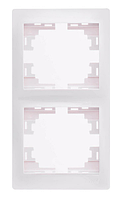 Lezard MIRA Рамка 2-ая вертикальная б/вст белая