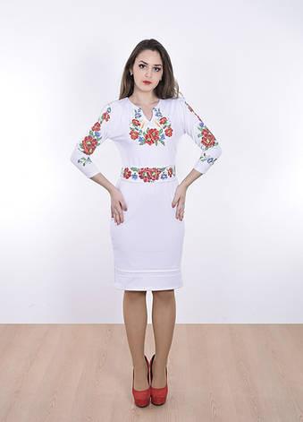 Трикотажное платье с вышивкой крестиком, фото 2