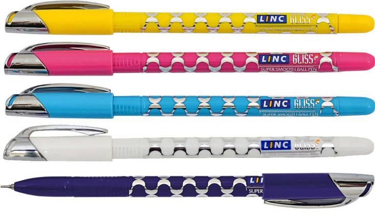 """Ручка шариковая """"Linc"""" масляная  синяя 0.7мм №411203, фото 2"""