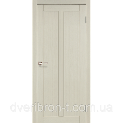 Двери Корфад Torino TR-01 беленый дуб глухое, фото 2