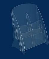 Буклетница вертикальная А4 формата - АкрилПлюс в Киеве