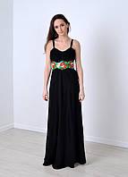 Длинное шифоновое платье вышиванка