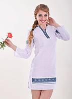 Льяное платье ручная вышивка
