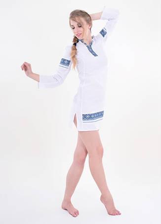 Льяное платье ручная вышивка, фото 2