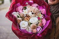 Романтичный букет из плюшевых мишек, Восхищение