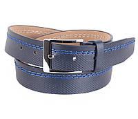 Синий джинсовый ремень мужской