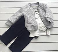 Детский костюм - куртка , батник , брюки - для мальчика на 9- 12 месяцев ,  на 1 год