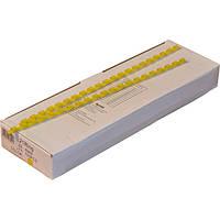 Пружины пластиковые 6 мм жёлтые, 100 шт/уп., 2-45 листов.