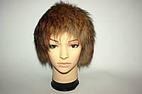 Меховая женская шапка из натурального меха енота, фото 1