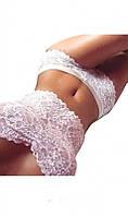 Красивое кружевное белье белое
