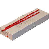 Пружины пластиковые 6 мм красные, 100 шт/уп., 2-45 листов.