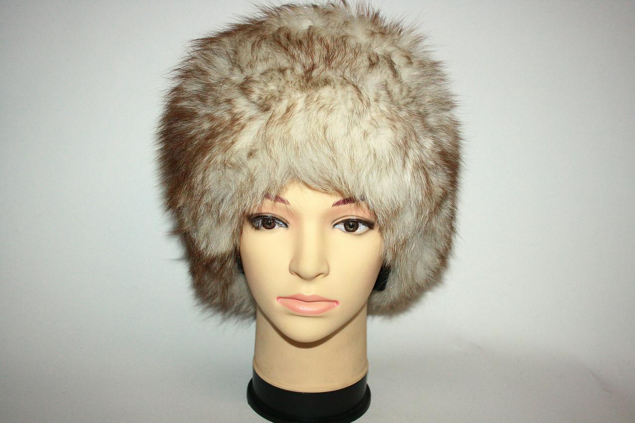Женская светлая песцовая шапка