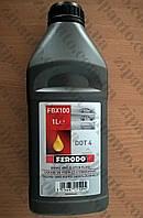 Тормозная жидкость DOT4 FERODO 1L FBX100, фото 1