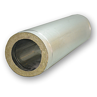 Труба-сэндвич для дымохода 110 мм (0,5 мм; 100 см; нержавейка/оцинковка) AISI 304 «Версия Люкс»